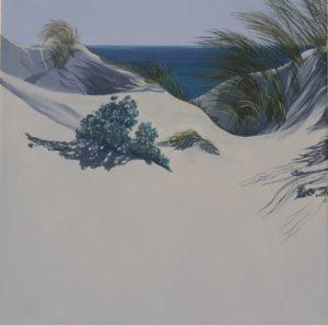 Spiagge della Sardegna - quadro intitolato Porto pino#08-1 2017 - 30x30 - autrice Chiara Pruna