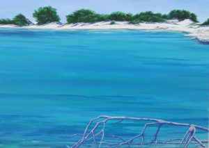 Spiagge della Sardegna - quadro intitolato Punti di vista 2018 50x70 - autrice Chiara Pruna