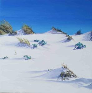 Spiagge della Sardegna - quadro intitolato White sand#2 -052018- 50x50 - autrice Chiara Pruna