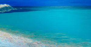 Spiagge della Sardegna - quadro intitolato Portixeddu-s.Antioco-2013- 40x80 - autrice Chiara Pruna