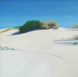 Spiagge della Sardegna - quadro intitolato White sand 5-2018 50x50 - autrice Chiara Pruna