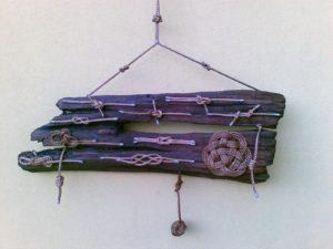 legni di mare - quadro F25 - autore Sandro Vischia