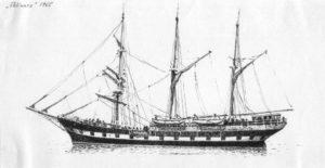 disegno della nave scuola Palinuro - velieri di lungo corso