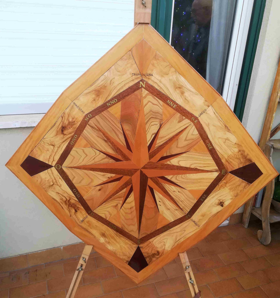 rosa dei venti Stella polare - autore Aurelio Antonini - rose dei venti