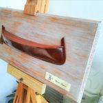 mezzo scafo di gozzo ligure - autore Tommaso Giaquinta - modelli & mezzi scafi - mercatino
