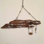 legno da spiaggia con nodi marinari N 1966 - mercatino
