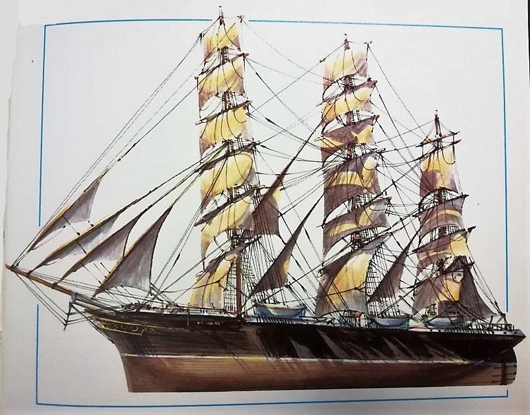 disegno del clipper Patriarch - velieri di lungo corso