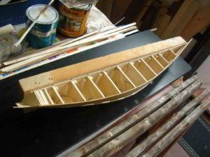 fasciatura del mezzo scafo dello SWAN 51
