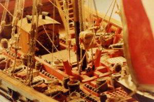 coperta dello sciabecco -modelli navali