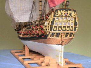 vista di poppa di vascello - modelli navali