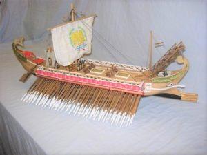 modello di trireme romana