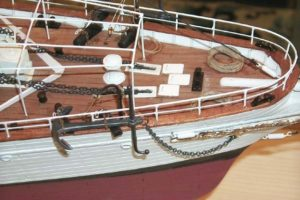 prua modello nave Elettra - modelli navali