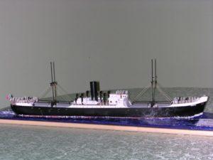 modello motonave Rubicone - diorama