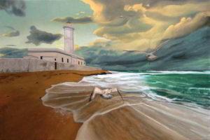 Dipinto n. 1 (80x120 olio su tela 2019) - paesaggi costieri