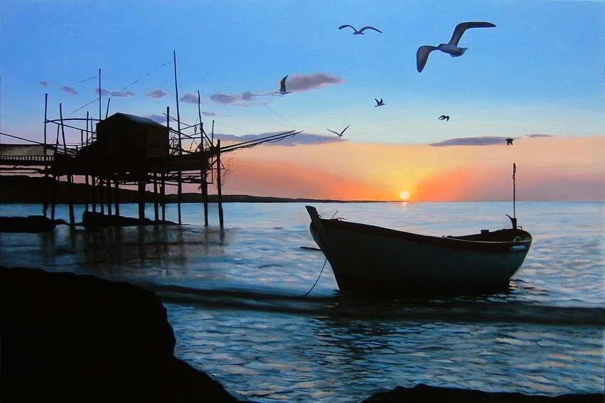 Dipinto n. 11 (80x120 olio su tela 2018) - paesaggi costieri