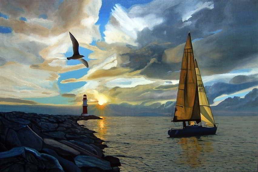 Dipinto n.12 (80x120 olio su tela 2018) - paesaggi costieri