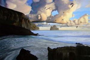 Dipinto n.13 (80x120 olio su tela 2018) - paesaggi costieri