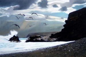 Dipinto n.15 (60x90 olio su tela 2018) - paesaggi costieri