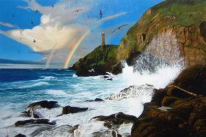 dipinto n. 6 (100x150 olio su tela) - paesaggi costieri