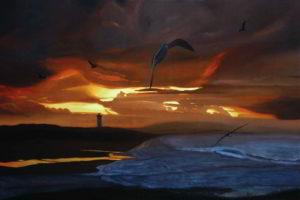 Dipinto n.8(100x150 olio su tela 2018) - paesaggi costieri