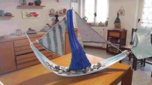 barca in legno di palma - arte marina