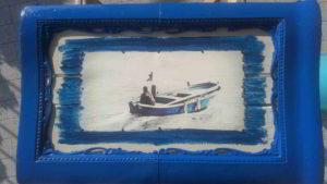 foto di barca in cornice antica - art marina