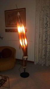 lampada in materiale riciclato - arte marina