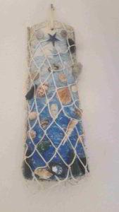 tegola lavorata artisticamente - scultura marina