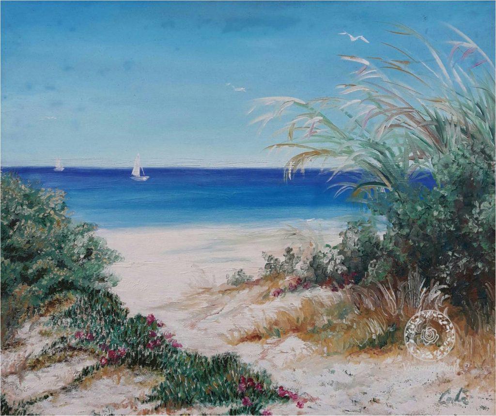 quadro raffigurante Alimini della costa pugliese