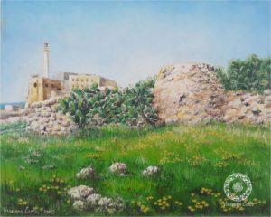 dipinto del faro di Leuca