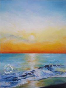 dipinto di paesaggio marino pugliese