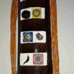 tronco in legno intarsiato