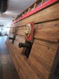 murata di vascello al museo navale di danzica