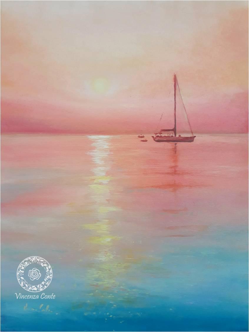 tramonto mare di puglia