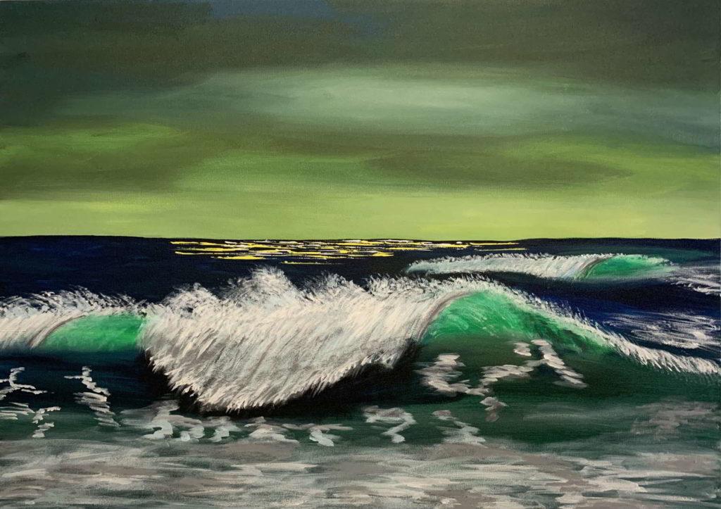 dipinto mare onde
