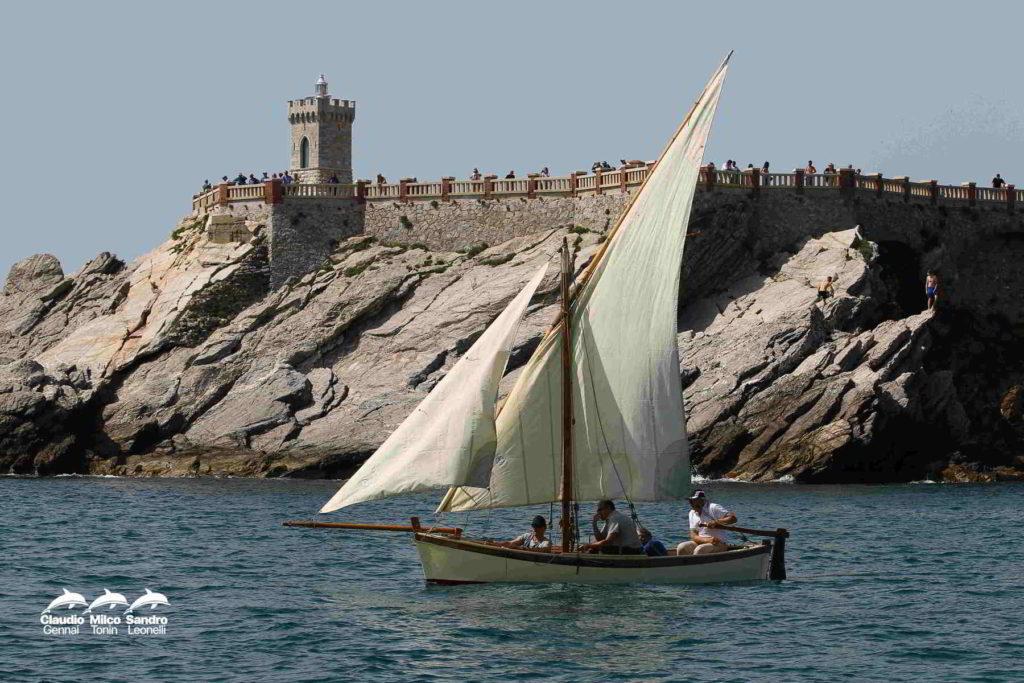 foto di gozzo a vela latina