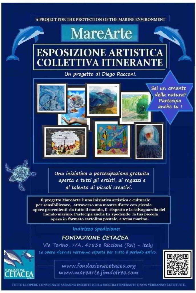 locandina della esposizione artistica collettiva itinerante