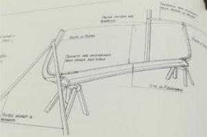 disegno scalo di costruzione gozzo ligure