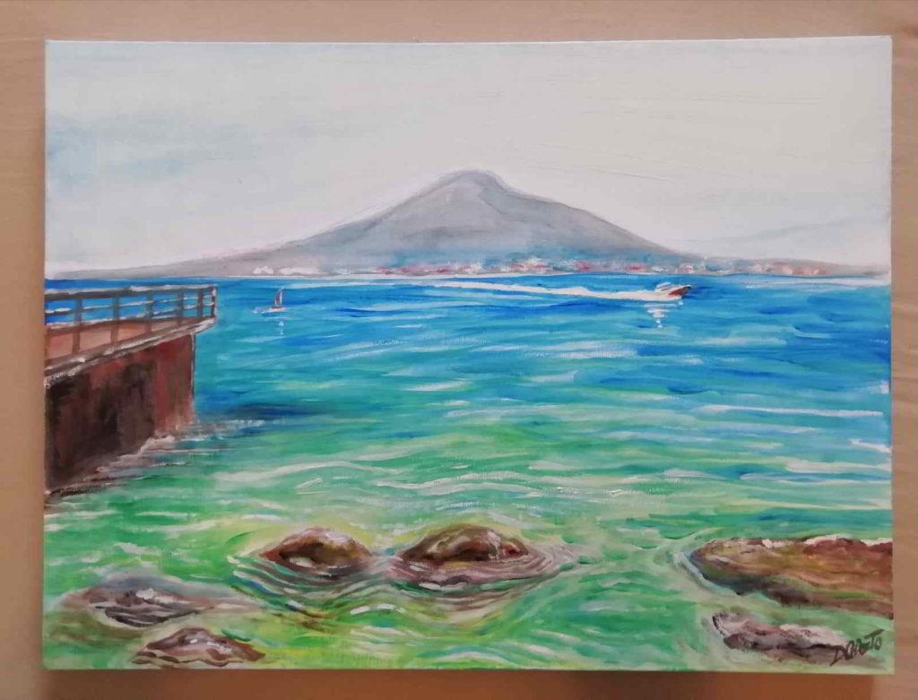 dipinto di mare napoli