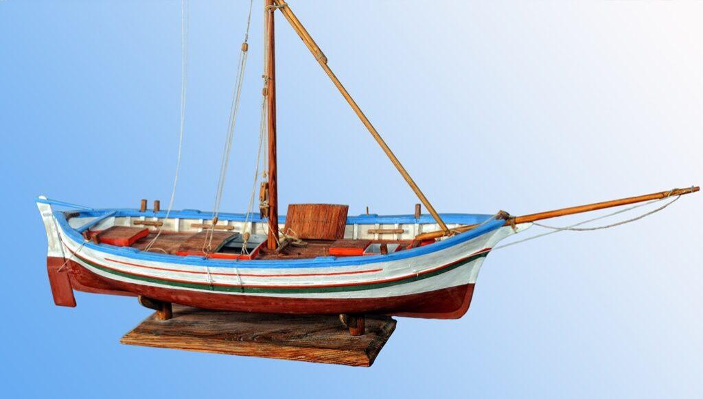 modello di paranzella - imbarcazione tipica siciliana