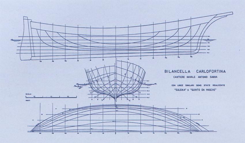 piano di costruzione di una bilancella