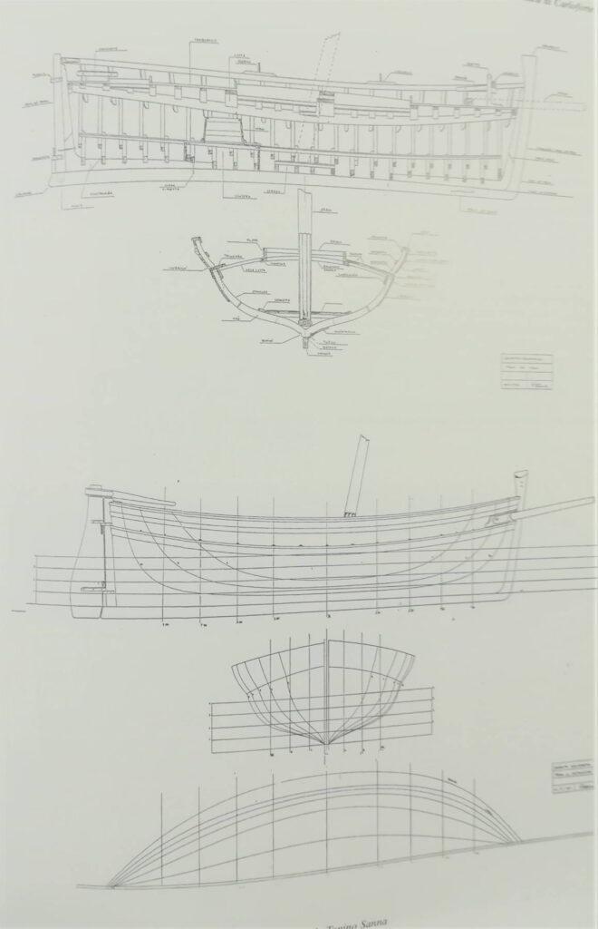 piano di costruzione di schifetto di carloforte