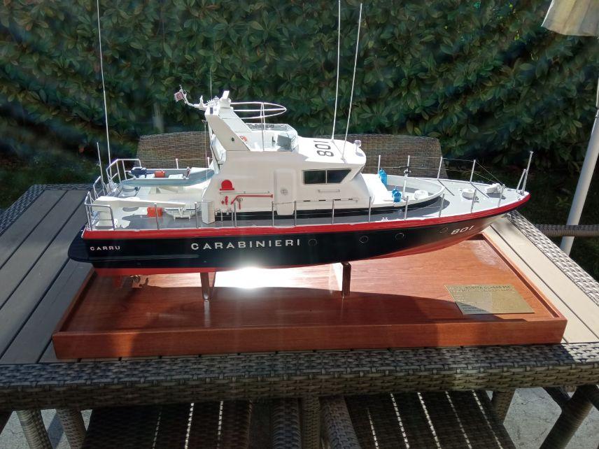 modello di cantiere motovedetta carabinieri classe 800