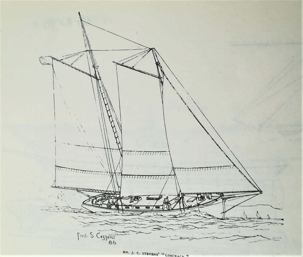 disegno dello shooner Gimcrack