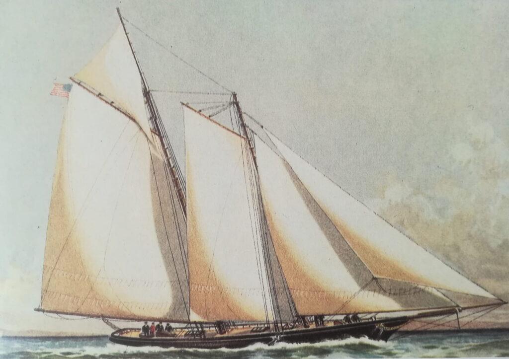dipinto dello shooner america