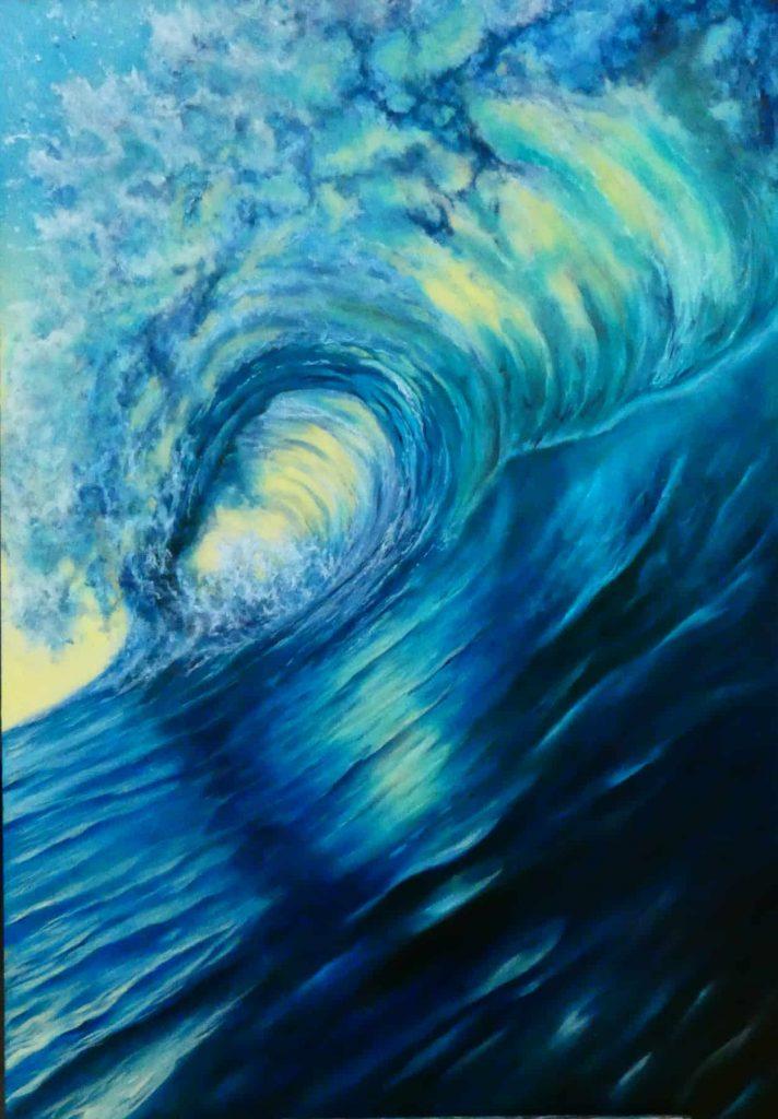 dipinto di onde
