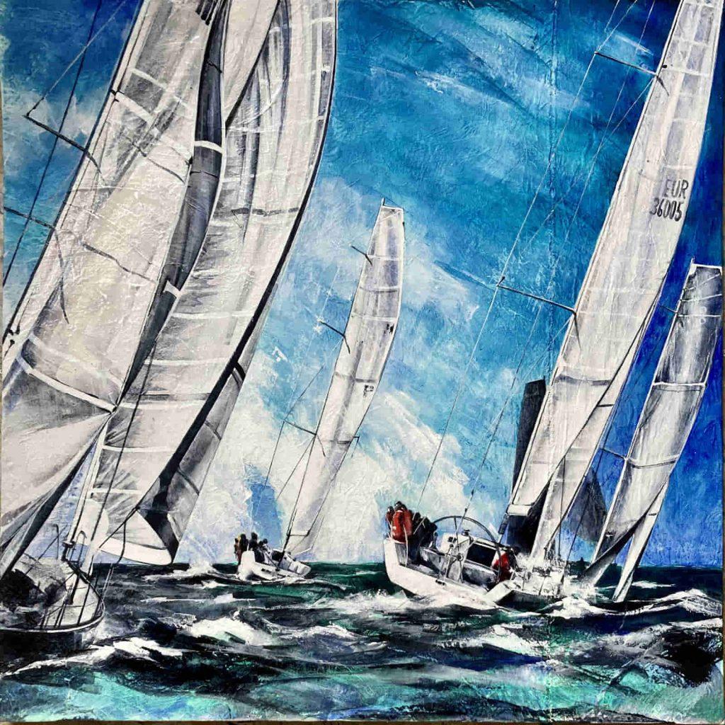 dipinto di regata